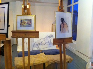 Clare's Life Studio - with artworks by local artists & students displayed for the open day.